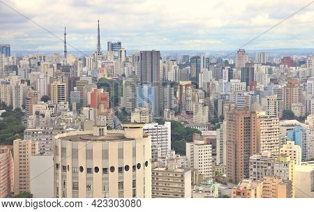View Of The Buildings In Sao Paulo, Brazil