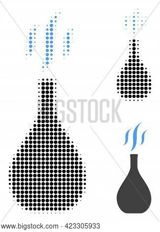 Incense Vial Halftone Dotted Icon. Halftone Pattern Contains Circle Points. Vector Illustration Of I