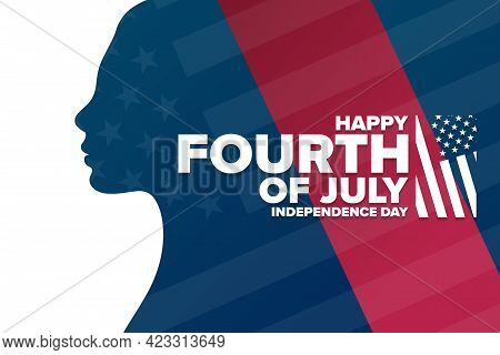 Happy Independence Day. 4th Of July. Holiday Concept. Template For Background, Banner, Card, Poster