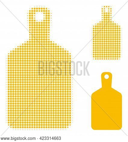Cutting Board Halftone Dotted Icon. Halftone Pattern Contains Circle Dots. Vector Illustration Of Cu