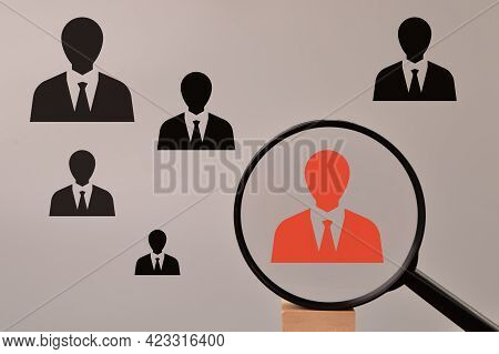Headhunting And Choosing Good Employee Concept. Business Concept