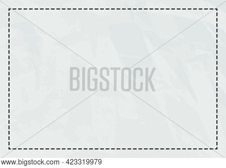 Black Dashed Line Frame Background. Vector Illustration. Abstract Background.