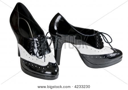 High Heel Spats Isolated With Clipping Path
