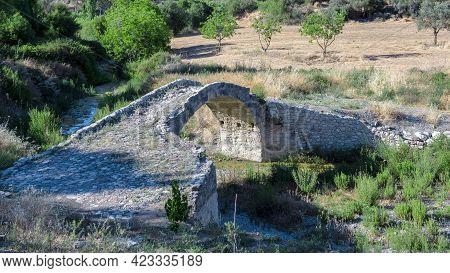Skarfos Old Bridge Is A Landmark Of Ottoman Period In Cyprus, Built In 1618