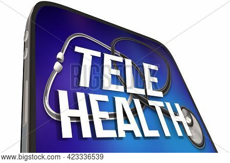 Tele Health Cell Phone Virtual Doctor Medical Appointment Health Care 3d Illustration