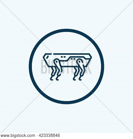 Spot Robot Dog Black Glyph Icon. Innovation In Technology. Industrial Sensing And Remote Operation N