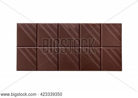 Bar Of Bitter Chocolate Isolated On A White Background