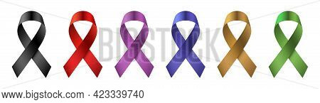 Vector Set Of A Colorful Vector Ribbons.