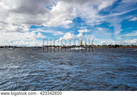 View Of Neva River And The Peter And Paul Fortress, Saint Petersburg, Russia