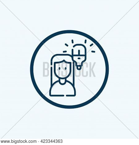 Idea Icon Isolated On White Background From Marketing Collection. Idea Icon Thin Line Outline Linear