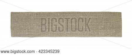 Sackcloth Piece Closeup Isolated On A White Background.