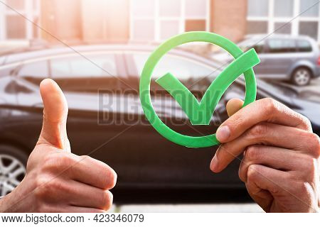 Car Buy Sell Checklist. Car Appraisal Check Mark
