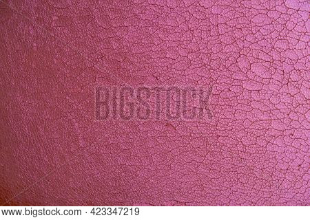 Texture Of Old Cracked Synthetic Fabric, Altered Color, Background