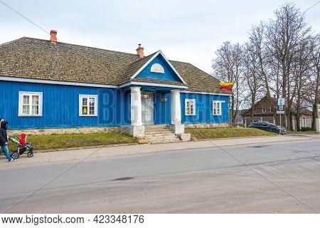 Trakai, Lithuania - February 16, 2020: The Old Post Office Building In Trakai, Vilnius County, Lithu