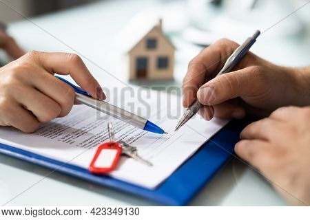 Property Deed And Loan Document. Apartment Paperwork Procedure