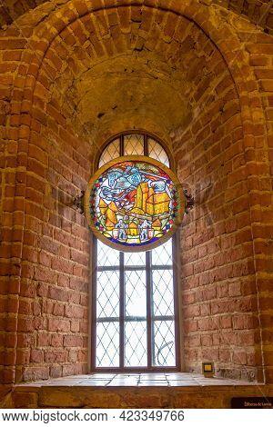 Trakai, Lithuania - February 16, 2020: Trakai Island Castle Inside. Part Of The Castle Interior Trak