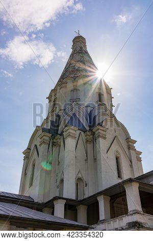 Church Of The Ascension In Kolomenskoye, Moscow, Russia. The Building Of The Historical-architectura