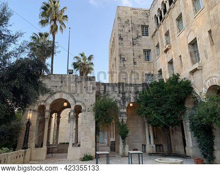 Jerusalem, Israel - March 08, 2021: Building Of Jerusalem International Ymca - Young Mens Christian