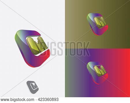 Letter M, Letter C, Cm, Mc, M, C Abstract Letter Logo Vector Monogram