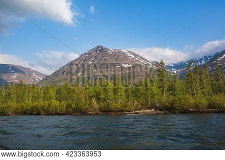 Lama Lake On Putorana Plateau, Taimyr. Russia