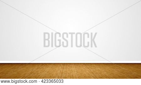 Concept or conceptual vintage or grungy brown background of natural wood or wooden old texture floor as a retro pattern layout on white. A 3d illustration metaphor to time, material, emptiness, age