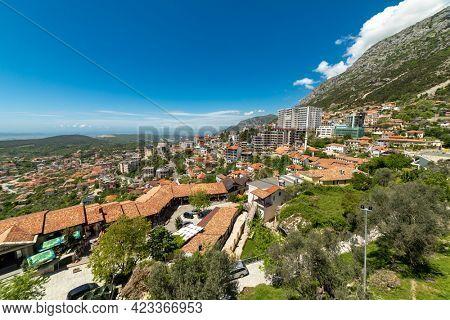 Kruja, Kroja, Kruja, Kruj, Krujë -  panorama of town and a municipality in north central Albania