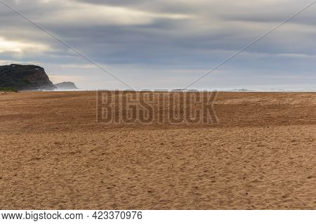 Photograph Of The Sand And Skyline At Avoca Beach On The Central Coast In New South Wales In Austral