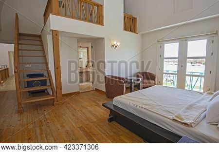 Interior Design Decor Furnishing Of Luxury Show Home Bedroom Showing Furniture And Double Bed With F