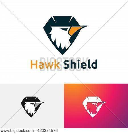Hawk Eagle Falcon Bird Shield Animal Game Esport Logo
