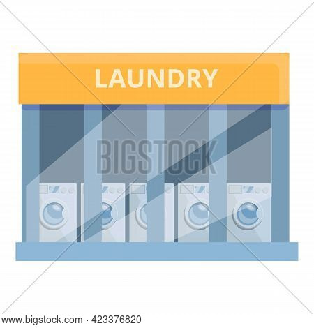 Street Laundry Icon. Cartoon Of Street Laundry Vector Icon For Web Design Isolated On White Backgrou