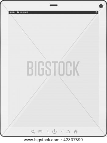 White Tablet Pc Isolated On White Background