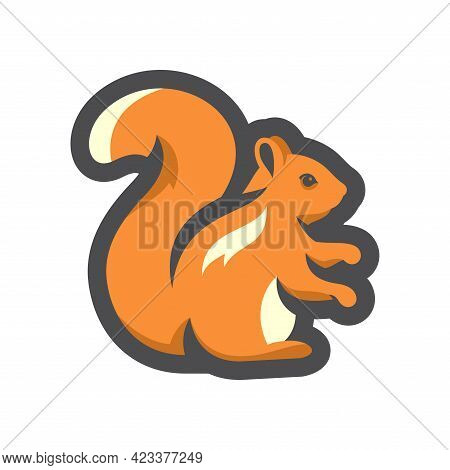 Squirrel Forest Rodent Vector Icon Cartoon Illustration