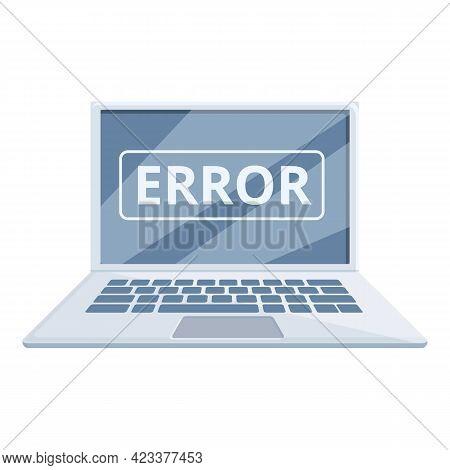 Software Error Laptop Repair Icon. Cartoon Of Software Error Laptop Repair Vector Icon For Web Desig