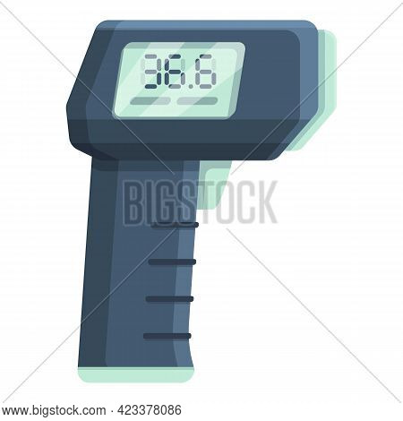 Laser Thermometer With Numbers Icon. Cartoon Of Laser Thermometer With Numbers Vector Icon For Web D