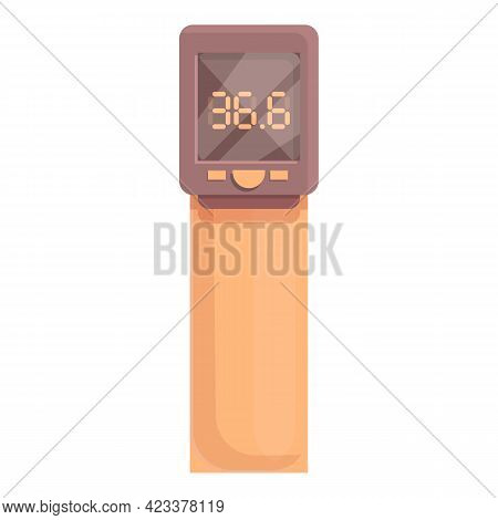 Laser Plastic Thermometer Icon. Cartoon Of Laser Plastic Thermometer Vector Icon For Web Design Isol