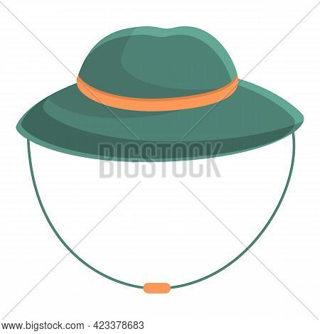 Expedition Hat Icon. Cartoon Of Expedition Hat Vector Icon For Web Design Isolated On White Backgrou