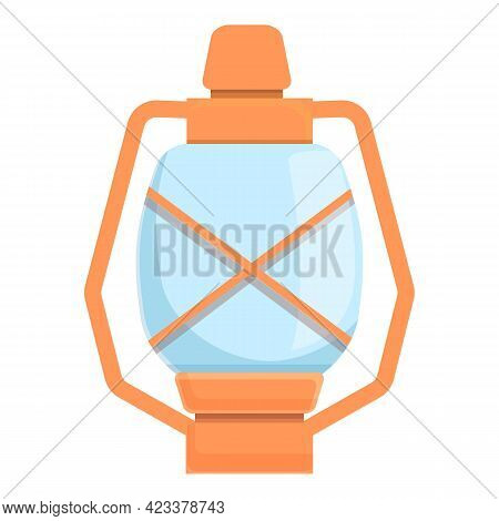 Expedition Oil Lamp Icon. Cartoon Of Expedition Oil Lamp Vector Icon For Web Design Isolated On Whit