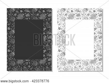Sea Creatures - Pattern. Abstract Composition For Your Design - Banners, Posters, Placards, Brochure