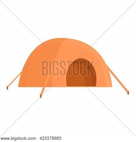 Tent For Expeditions Icon. Cartoon Of Tent For Expeditions Vector Icon For Web Design Isolated On Wh