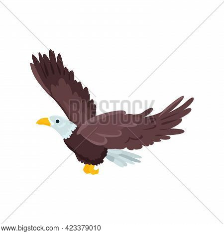Eagle Flat Icon. Colored Vector Element From Birds Collection. Creative Eagle Icon For Web Design, T