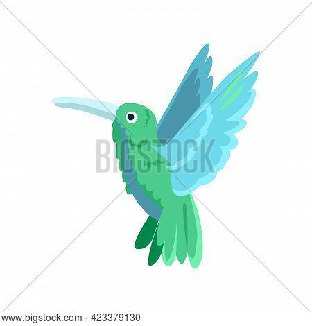 Colibri Flat Icon. Colored Vector Element From Birds Collection. Creative Colibri Icon For Web Desig