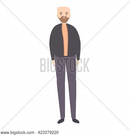 Bald Man Icon. Cartoon Of Bald Man Vector Icon For Web Design Isolated On White Background
