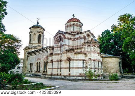 Ancient Church Of Saint John The Baptist In Kerch, Crimea. Building Was Founded In Viii Century. Thi