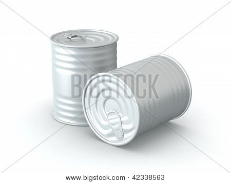 Isolated Tin Cans