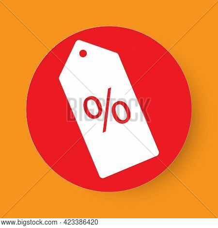Price Tag With Percentage Sign, Shopping Discount Sign Concept Vector Illustration