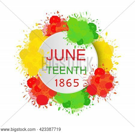 Juneteenth Day Concept Vector Poster, Banner, Web, App. Freedom Day.