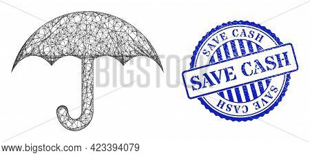 Vector Crossing Mesh Umbrella Carcass, And Save Cash Blue Rosette Unclean Seal Imitation. Linear Car