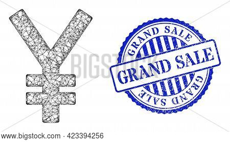 Vector Crossing Mesh Yen Carcass, And Grand Sale Blue Rosette Unclean Seal Imitation. Crossed Carcas