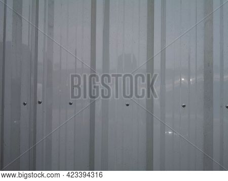 Metal Sheet Rolled Steel Grey Color Coating Roof Construction Pattern Material On Cement Wall