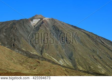 Volcano And In Teide National Park In Tenerife